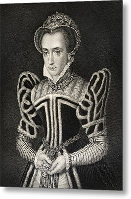 Queen Mary Aka Mary Tudor Byname Bloody Metal Print by Vintage Design Pics