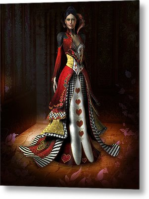 Queen Of Hearts Metal Print by David Griffith