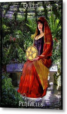 Queen Of Pentacles Metal Print by Tammy Wetzel