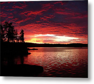 Quetico Sun Rise Metal Print by Peter  McIntosh