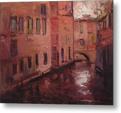 Quiet Canal In Venice IIi Metal Print by R W Goetting