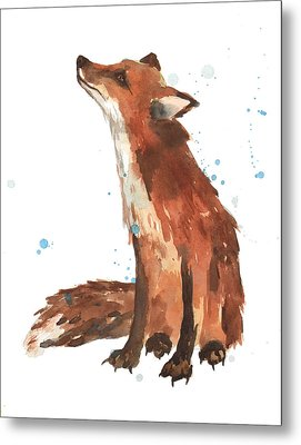 Quiet Fox Metal Print by Alison Fennell
