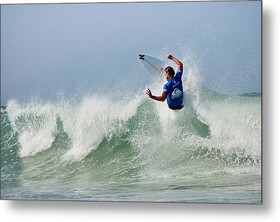 Metal Print featuring the photograph Quiksilver Pro France I by Thierry Bouriat