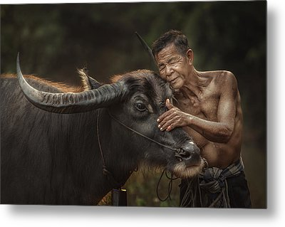 R U Ready For Work? Metal Print by Jakkree Thampitakkull