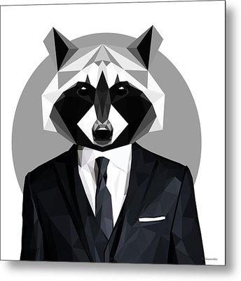Raccoon Metal Print by Filip Aleksandrov