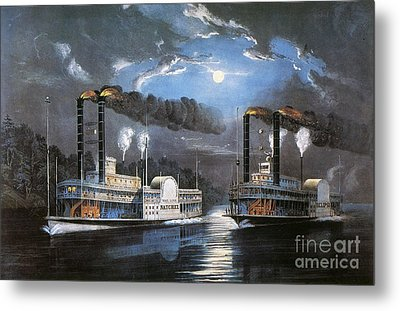 Race On Mississippi, 1860 Metal Print by Granger
