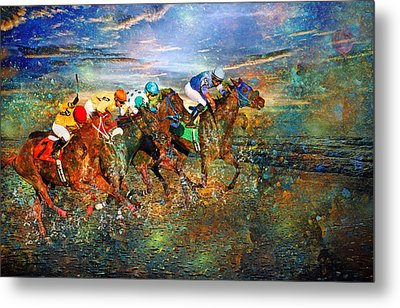 Racing Energy II Metal Print by Betsy C Knapp