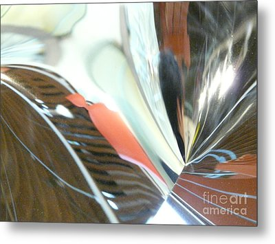 Radial Reflection 2 Metal Print by Donna McLarty