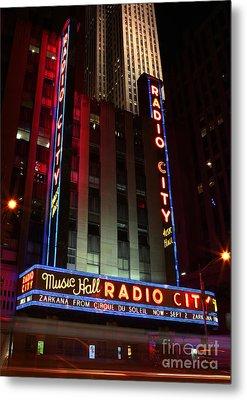 Radio City Music Hall Cirque Du Soleil Zarkana Metal Print by Lee Dos Santos