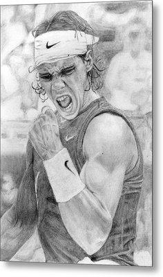 Rafael Nadal Metal Print by Alexandra Riley