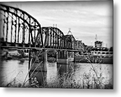 Railroad Bridge Metal Print by Scott Pellegrin