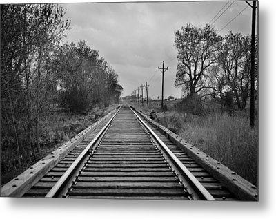 Railroad Tracks Metal Print by Matthew Angelo