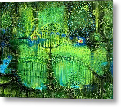Rain Land II Metal Print by Lolita Bronzini