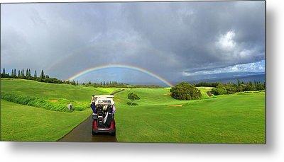 Rainbow At Kapalua Metal Print by Stacia Blase