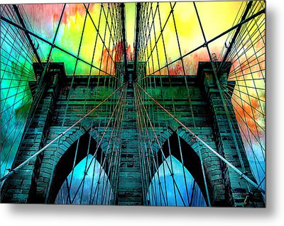 Rainbow Ceiling  Metal Print by Az Jackson