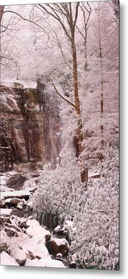 Rainbow Falls Smoky Mountain National Park -- Painted Photo. Metal Print by Christopher Gaston