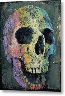 Happy Skull Metal Print by Michael Creese
