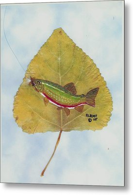Rainbow Trout On Fly Metal Print by Ralph Root