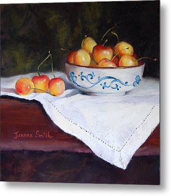 Rainier Cherries Metal Print by Jeanne Rosier Smith
