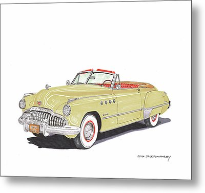 Rainman Buick Roadmaster Metal Print by Jack Pumphrey
