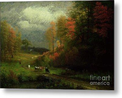 Rainy Day In Autumn Metal Print by Albert Bierstadt