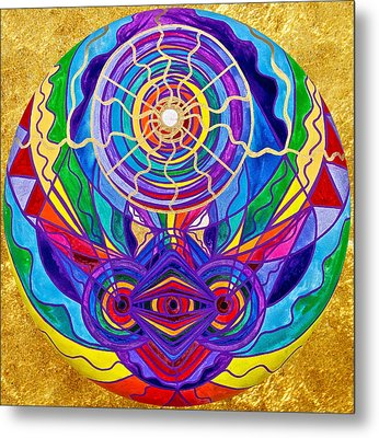 Raise Your Vibration Metal Print by Teal Eye  Print Store
