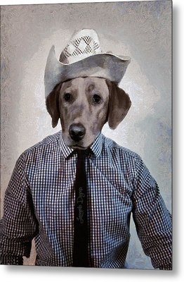 Rancher Dog - Da Metal Print by Leonardo Digenio