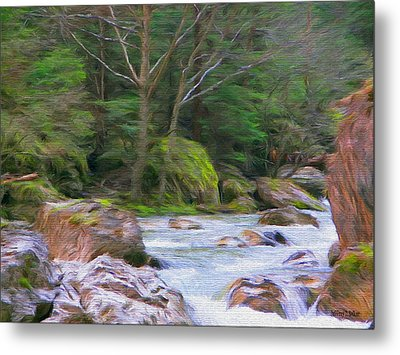 Rapids At The Rivers Bend Metal Print by Jeff Kolker
