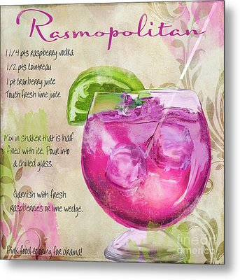 Rasmopolitan Mixed Cocktail Recipe Sign Metal Print by Mindy Sommers