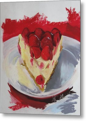 Raspberry And Cheese Metal Print by Marie-claude Gagnon
