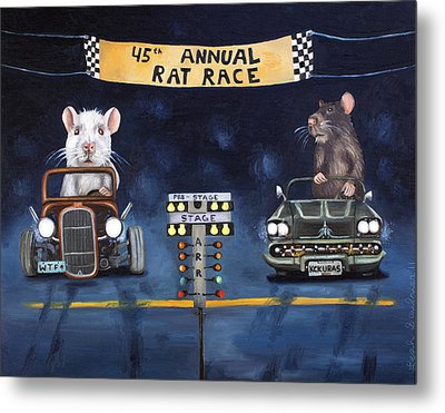 Rat Race Metal Print by Leah Saulnier The Painting Maniac