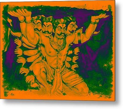 Ravana Metal Print by Bliss Of Art