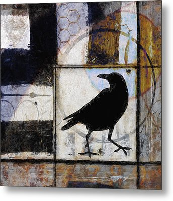 Raven Ahead Of Time Metal Print by Carol Leigh