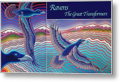 Ravens - The Great Transformers Metal Print by Karie Seven Eagles Garnier