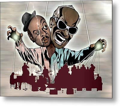Ray Charles And Count Basie - Reanimated Metal Print by Sam Kirk