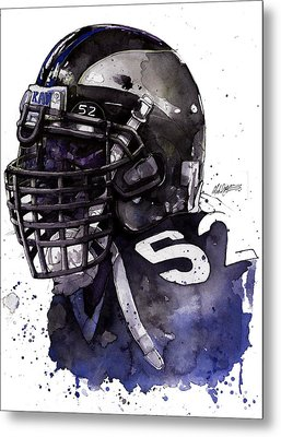 Ray Lewis -  Last Game Metal Print by Michael  Pattison