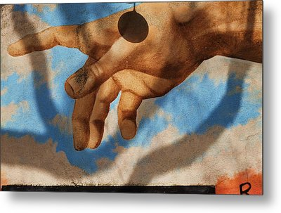 Reach Out Beverly Hills Metal Print by Todd Sherlock