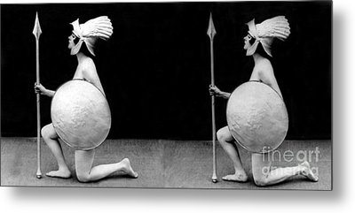 Ready And Able, Nude Model, 1927 Metal Print by Science Source