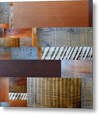 Reclaimed Wood Collage 3.0 Metal Print by Michelle Calkins