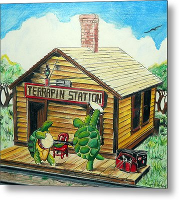 Recreation Of Terrapin Station Album Cover By The Grateful Dead Metal Print by Ben Jackson