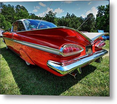 Red '59 Impala 001 Metal Print by Lance Vaughn