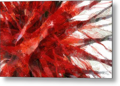 Red Abstract Metal Print by Russ Harris