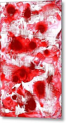 Red And White Metal Print by Anastasiya Malakhova
