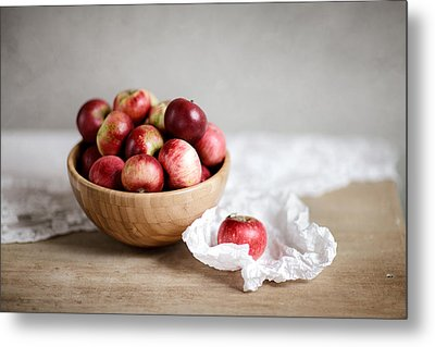 Red Apples Still Life Metal Print by Nailia Schwarz