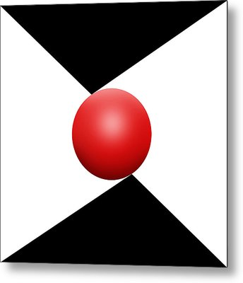 Red Ball S Q 2 Metal Print by Mike McGlothlen