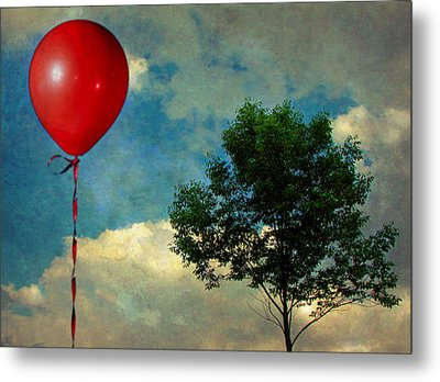 Red Balloon Metal Print by Jessica Brawley