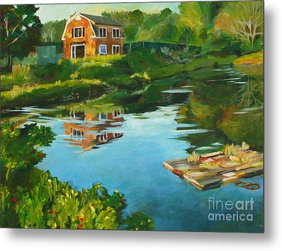 Red Barn In Kennebunkport Me Metal Print by Claire Gagnon