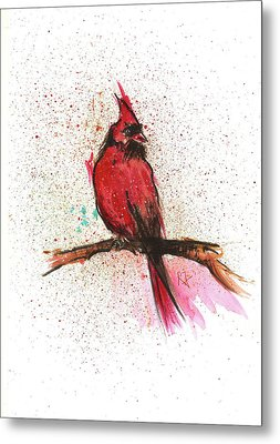Red Bird Metal Print by Remy Francis