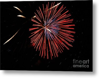 Red Burst Metal Print by Norman  Andrus