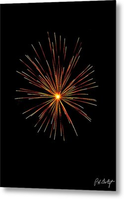 Red Burst Metal Print by Phill Doherty